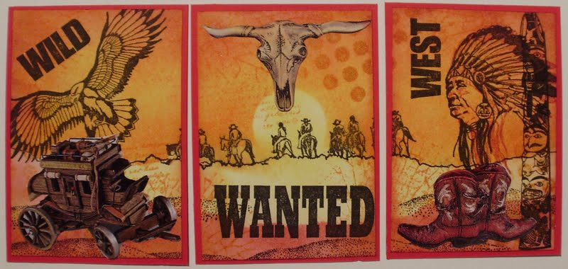 Mamapias Stempelecke: Creavil #14   Cowboys und Indianer