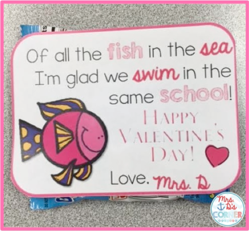 picture regarding Printable Valentine Card for Teacher identify Valentines Working day Reward toward Pupils [ Free of charge ] - Mrs. Ds Corner