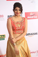 Harshika Ponnacha in orange blouuse brown skirt at Mirchi Music Awards South 2017 ~  Exclusive Celebrities Galleries 005.JPG