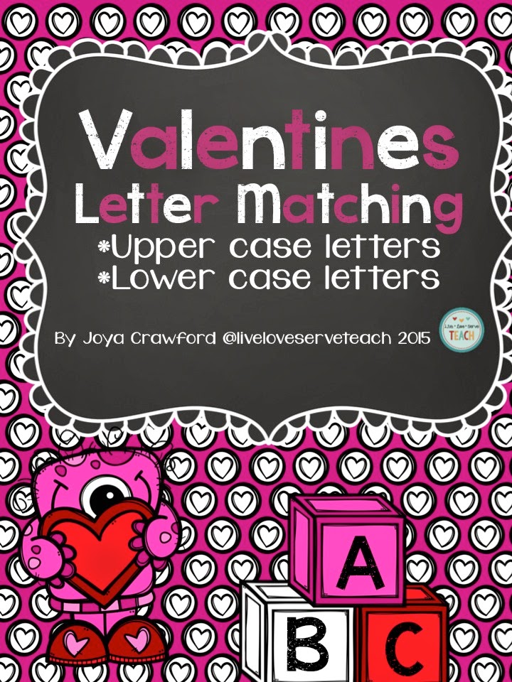 https://www.teacherspayteachers.com/Product/Valentines-Hearts-Letter-Matching-Upper-and-Lower-case-letters-1663903