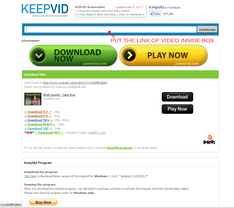 Bulli Sot blogs: How to Download YouTube Videos: REVIEW ON KEEPVID