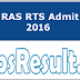 RPSC RAS RTS Admit Card 2016 Download Hall Ticket Exam Date