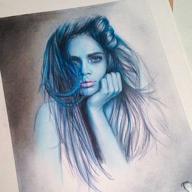 03-@caradelevigne-Jennifer-de-Boer-Pencil-Portraits-WIP-and-Complete-Drawings-www-designstack-co