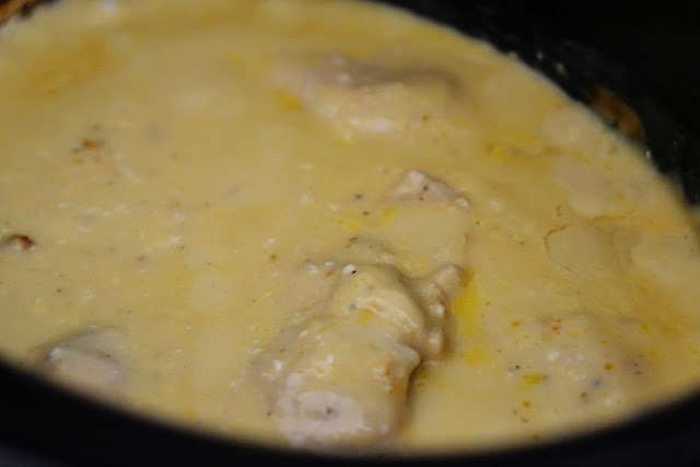 Crock Pot Creamy Italian Chicken is chicken breasts slow cooked in a creamy mixture full of Italian flavor. Life-in-the-Lofthouse.com