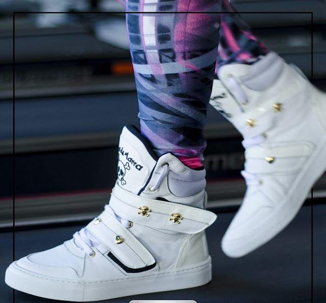 Bota Botinha Sneaker de Academia treino branco