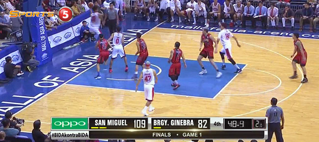 San Miguel def. Ginebra, 109-82 (REPLAY VIDEO) Finals Game 1 / February 24