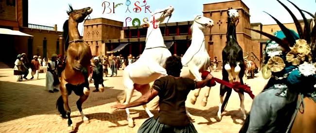 Hrithik Roshan tame horses inMohenjo Daro village