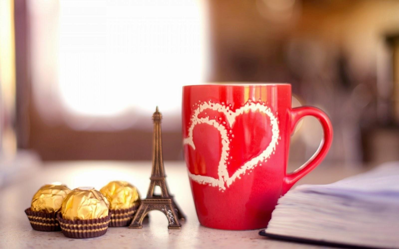 The Best Wallpapper: HD Mug Heart Love Wallpaper