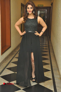 Actress Surabhi Stills in Black Long Dress at turodu Audio Launch  0088.JPG