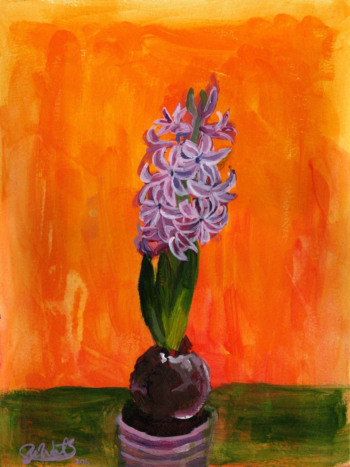 Sze Wat - Painting Study #1 of Hyacinth