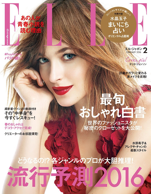 Actress, Model, @ Dakota Johnson - ELLE Japan February 2016