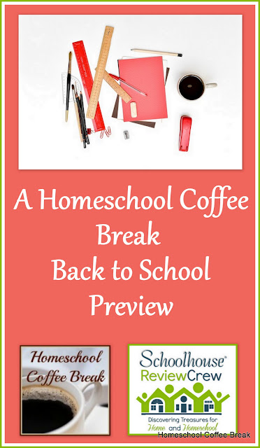 A Homeschool Coffee Break Back to School Preview on Homeschool Coffee Break @ kympossibleblog.blogspot.com - We're back to school, and we're also working on some upcoming reviews. Here's a quick look at what we've got going on over the next couple of months!