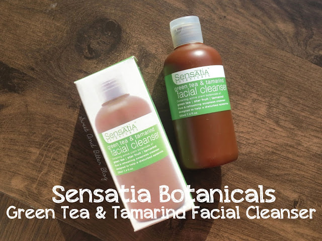 Sensatia Botanicals Green Tea And Tamarind Facial Cleanser Review
