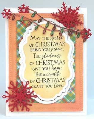 Our Daily Bread Designs Stamp Set: Merry & Bright, Our Daily Bread Designs Custom Dies: Snowflake Sky, Snow Crystals, Vintage Labels, Double Stitched Rectangles, Christmas Lights, Our Daily Bread Designs Paper Collection: Birthday Brights