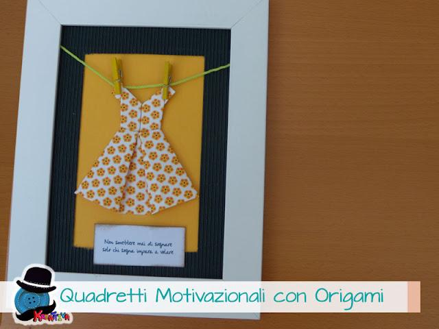 quadretti con vestiti origami
