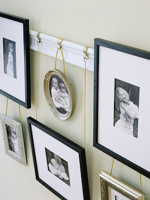 Photo Display Ideas Hanging Photos With Ribbon String