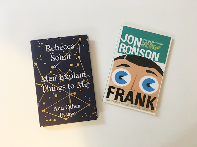 TBR Takedown reading list - Men Explain Things to me (Rebecca Solnit), Frank (Jon Ronson), The Sleeping Prince (Melinda Salisbury), and Killing Sarai (J.A. Redmerski)