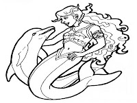 Dolphin and mermaid coloring pages printable