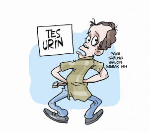 Pegawai Dishub Tes Urine Mendadak