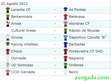 Calendario Tercera Division.Calendario Tercera Division Grupo 1 Galicia 2013 2014 Futbolbaseymas