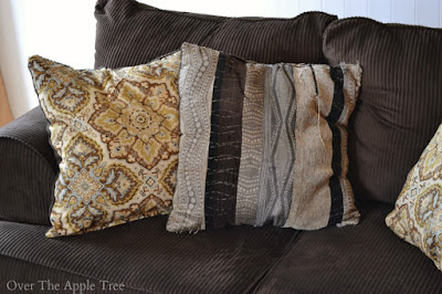 Updated Sofa Pillows by Over The Apple Tree