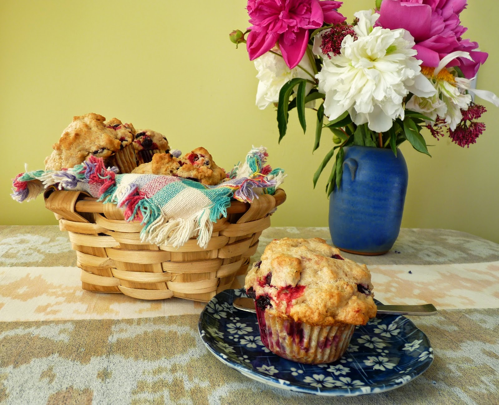 Pop-Pop's Biscuit Muffins - with Haskaps