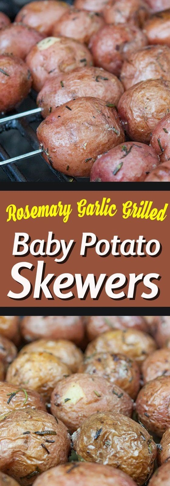 Rosemary Garlic Grilled Baby Potato Skewers