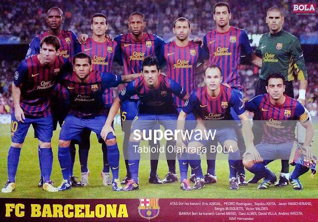 Team Squad FC Barcelona 2011