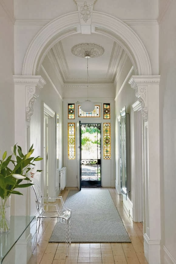 Awesome Entrance Hall Of Brand New House. Stock Photo ...