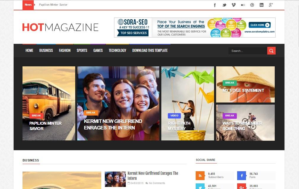 How To Setup HotMagazine Blogger Template - Sora Blogging Tips