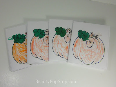 Printable Pumpkin Halloween Cards