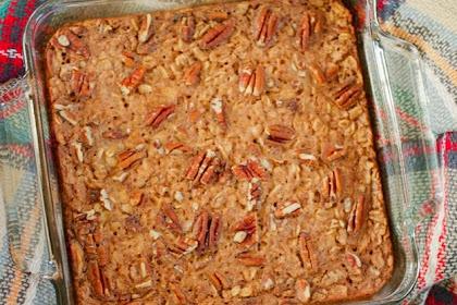 Maple Pecan Baked Oatmeal