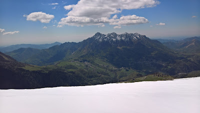 View south to Monte Alben.