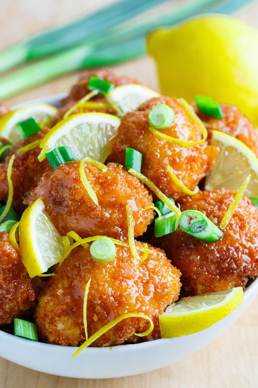 recipe: crispy honey lemon chicken [30]