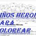 NIÑOS HEROES PARA COLOREAR