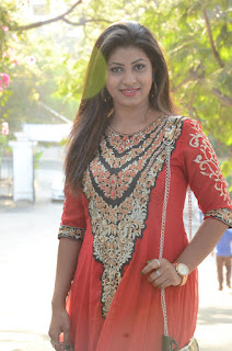 Geethanjali Stills in Red Dress at Nenu Naa Boyfriends Movie Opening  0064.JPG