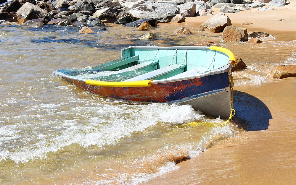 Boat Washed Ashore, Lake Superior