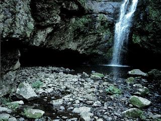 Detalhe da Queda d'Água da Cachoeira  do Remanso, em São Francisco de Paula