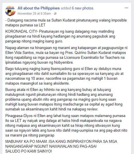 Ellen Vida Santos viral LET story