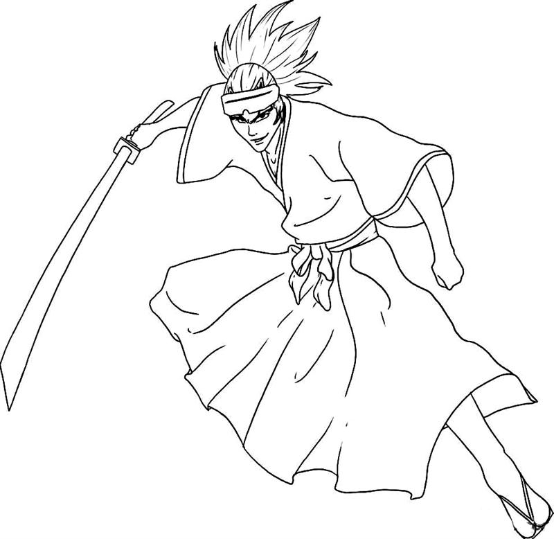 bleach coloring book pages - photo#6