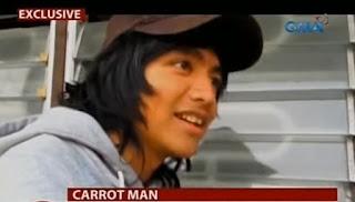 Jeyrick Sigmaton popularly known as Carrot Man.