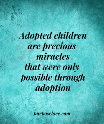 Adopted children are precious miracles that were only possible through adoption.