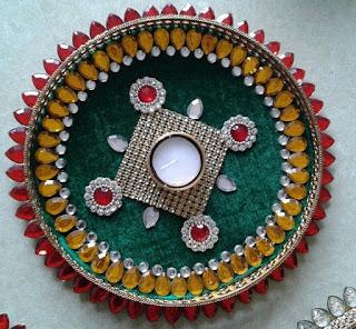 Puja Thali Decoration Image