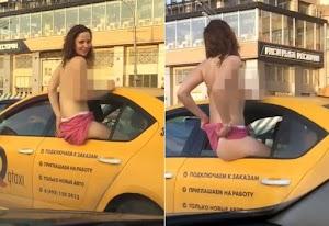 Mulher flagrada fazendo sexo no banco traseiro de táxi, viraliza na internet ao exibir nudes