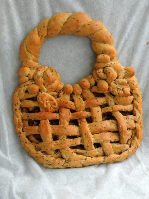 Vegan Seeded Handbag Shaped bread