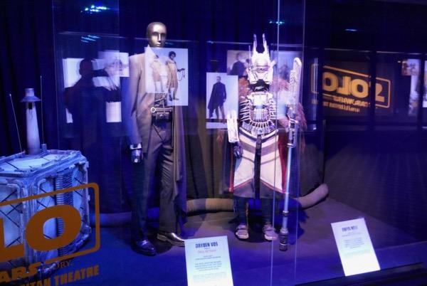Solo Star Wars costume exhibit