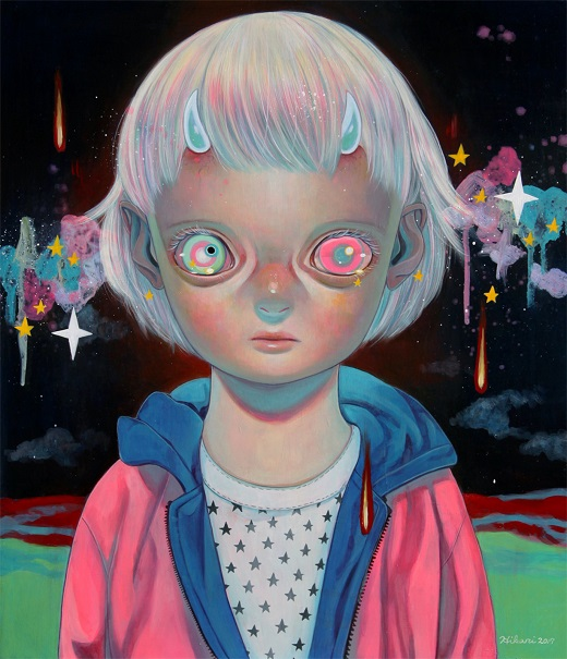 "obras de arte, pintura, pop art, cool pictures, imagenes chidas, tristes | ""Children of this Planet #38"" by Hikari Shimoda"