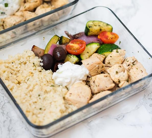 One Pan Greek Chicken Meal Prep #chickenmeal #diet