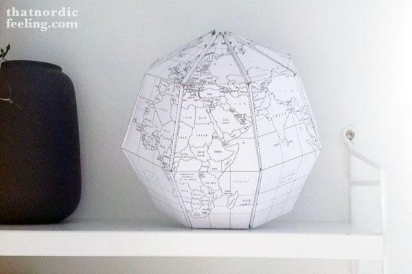 detalle del globo de papel