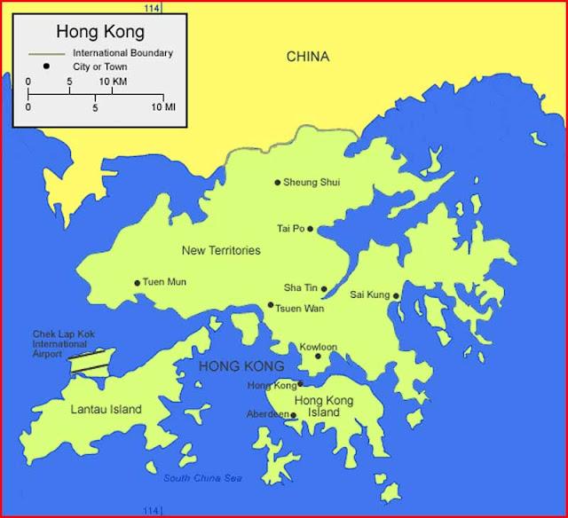 Gambar Peta Hong Kong